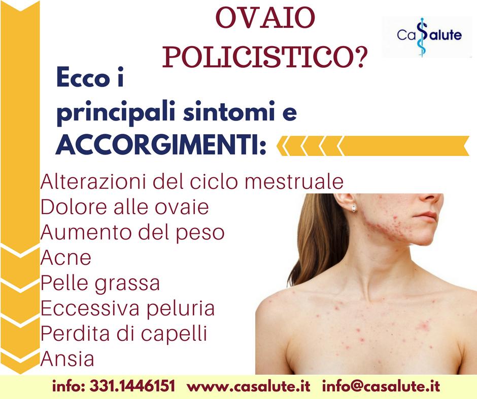 aumento di peso cisti ovarica dell acne